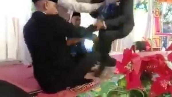 Viral Akad Nikah di Bima NTB Ricuh, Pengantin Pria Ditendang Mertua