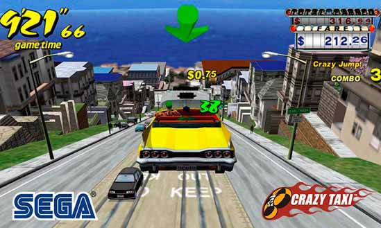 Juego de carreras Crazy Taxi Classic
