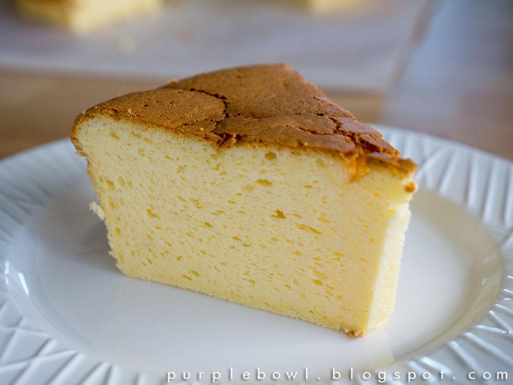 Japanese Cheesecake Recipe: Purple Bowl: Japanese Cheesecake Recipe