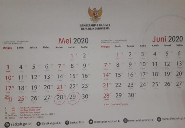 Cuti Bersama Idul Fitri 2020 Digeser, Berikut Daftar Cuti Bersama Terbaru