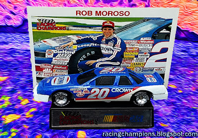 Rob Moroso #20 Crown Racing Champions 1/64 NASCAR diecast blog die 1990 Rookie ROY