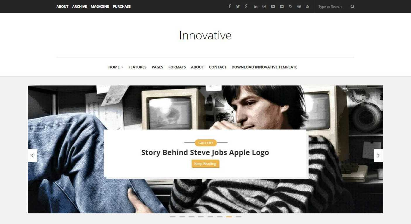Innovative - Responsive Blogger Template - Minimal Blogging