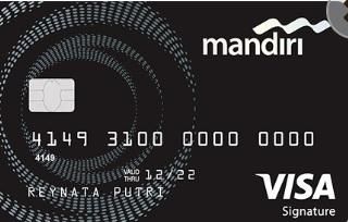 Tampilan design Kartu Kredit Mandiri Signature