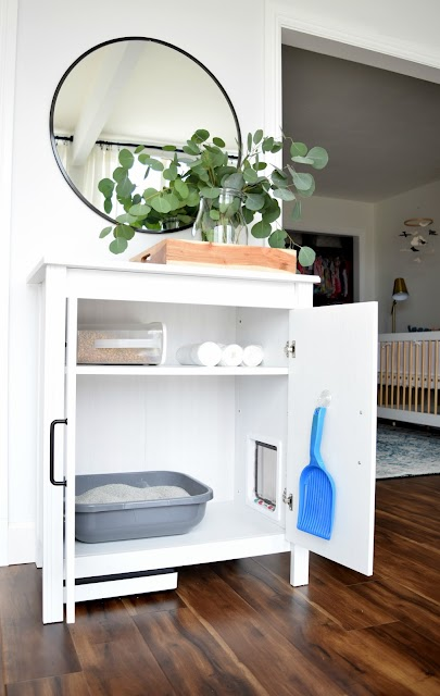 ikea cabinet DIY to hide cat litter