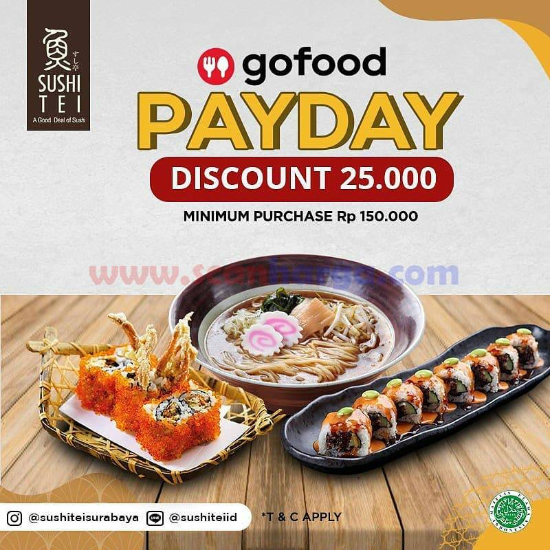 Sushi Thei Spesial Payday Promo GOFOOD! Diskon hingga Rp 40.000