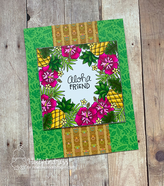 Tropical Card by Holly Endress | Tropical Fringe Stamp Set by Newton's Nook Designs #newtonsnook #handmade