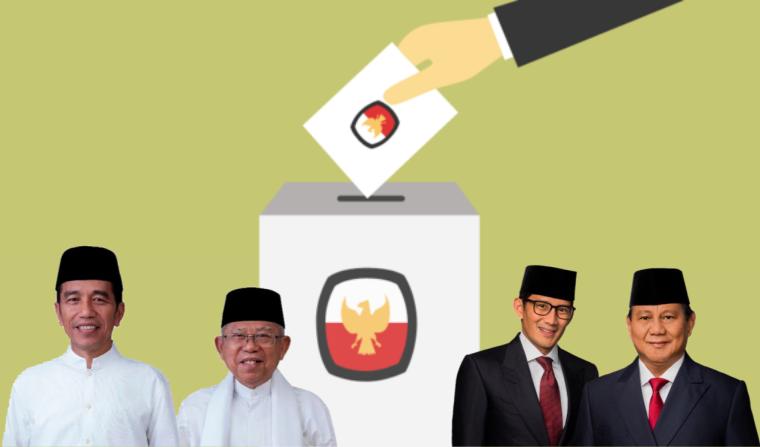 Real Count KPU 28,38% : Pasangan Jokowi-Ma'ruf Unggul 4,89 Juta Suara dari Pasangan Prabowo-Sandi