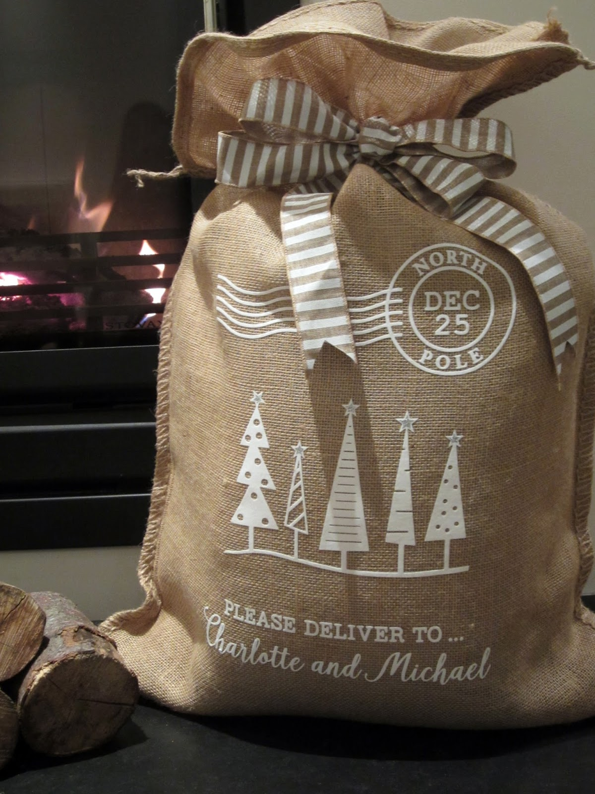 Silhouette Uk Christmas Santa Sacks