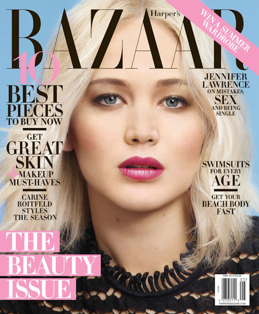 Actress, @ Jennifer Lawrence - Harper's Bazaar US May 2016