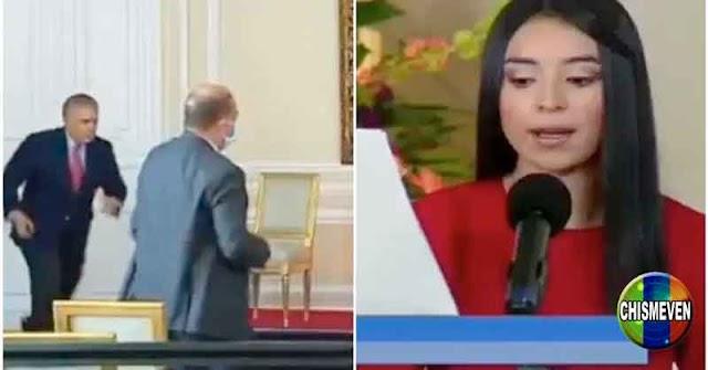 """Iván Duque rescató a una periodista luego de darle un """"Yeyo"""""""