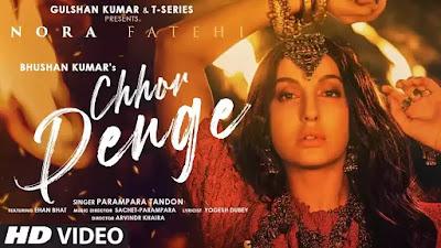 Checkout Nora Fatehi song Chhor Denge lyrics on lyricsaavn sung by Parampara tandon