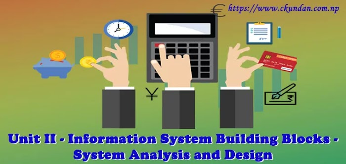 Unit II - Information System Building Blocks - System Analysis and Design