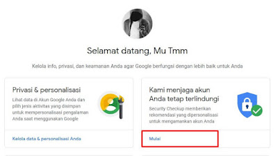 cara log out akun google