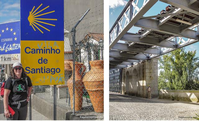 Travessia da fronteira em Valença do Minho, no Caminho de Santiago