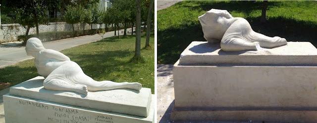 """Βάνδαλοι """"αποκεφάλισαν"""" το άγαλμα της Βορείου Ηπείρου στο κέντρο της Αθήνας -  Μια χώρα που δεν μπορεί να προστατέψει τα σύνορα και τα μνημεία της, μπορεί να συνεχίσει να υπάρχει;"""