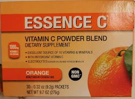 Box packaging for Essence-C Vitamin C Powder Blend