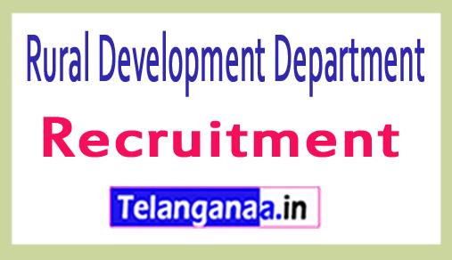Rural Development Department RDD Recruitment