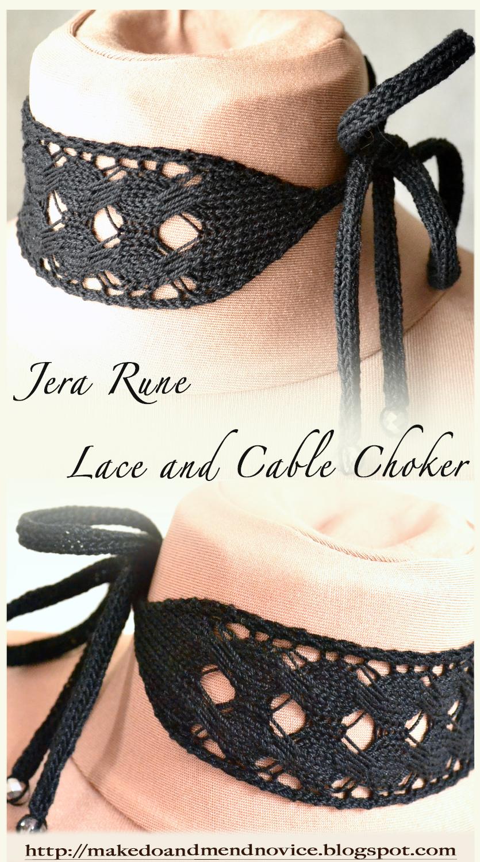 Free Lace Choker Knitting Pattern - Jera Rune Choker