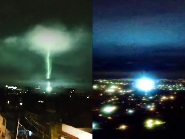 الزلازل،أضواء الزلازل،المكسيك،نيو مكسيكو،أضواء زلزال المكسيك،أضواء غريبة في سماء المكسيك،زلزال المكسيك