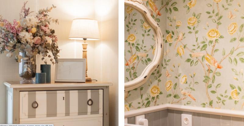 Mueble vintage pintado en dos colores