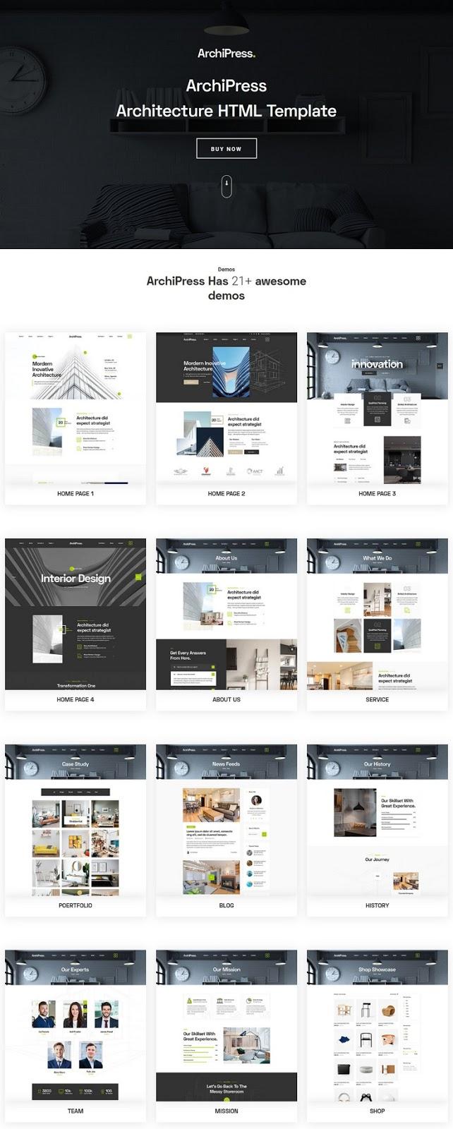 Best Architecture, Agency & Interior Design HTML Template
