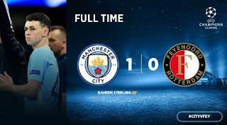 Manchester City Menang Tipis 1-0 atas Feyenoord