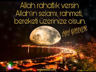 dini iyi geceler mesajı resimli