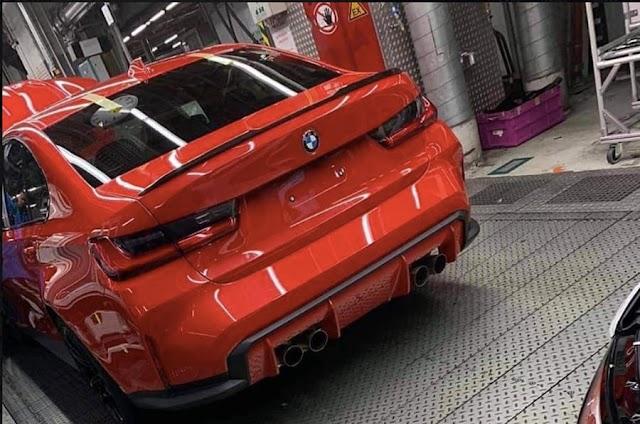 2020 BMW M3: rear end design seen undisguised