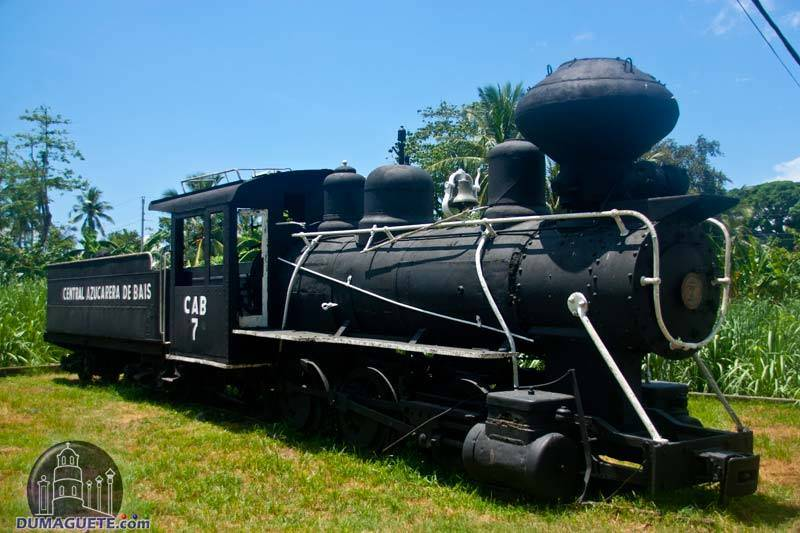 Old Baldwin Steam Train in Bais City near Dumaguete City