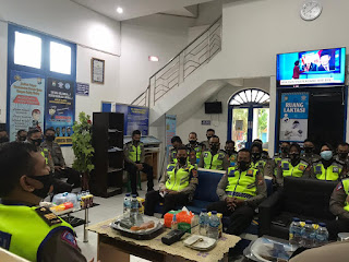 Jam Pimpinan, Kapolres Parepare Berikan Arahan Khusus Kepada Jajaran Sat Lantas