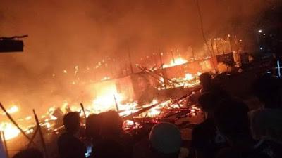 Kebakaran Dahsyat di Lamuru Tellu Siattinge, 10 Rumah Ludes dan 2 Orang Meninggal Dunia