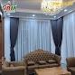 Rèm vải 2 lớp kiểu âm trần màu xám xanh cho phòng khách sang trọng,,,sản phẩm bình minh đồng xoài,0981.622.779.