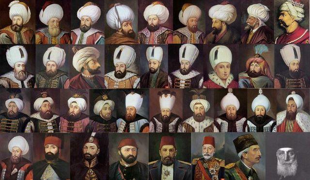 Osmanlı padişahları sıralaması, isimleri ve tarihleri