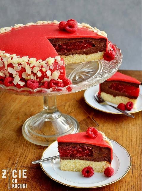 tort, tort czekoladowo malinowy, nowy rok, zycie od kuchni