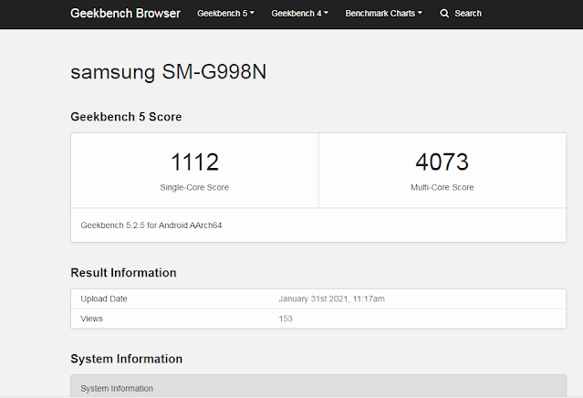 Samsung Galaxy S21 Ultra Breaks Benchmarking Records by achieving 4073 Multi-Core Score on Geekbench | TechNeg