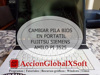 Videotutorial, Cambiar pila bios en portátil Fujitsu Siemens Amilo Pi 3525