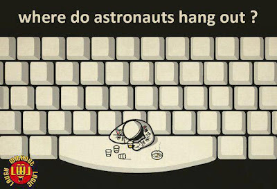 Where do Astronauts hang out? The Space Bar!