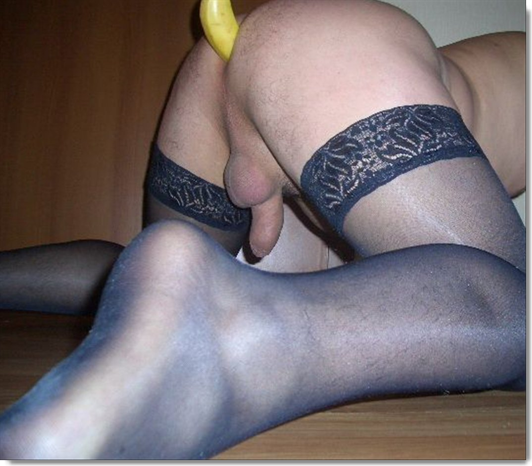 Sex men in pantyhose having