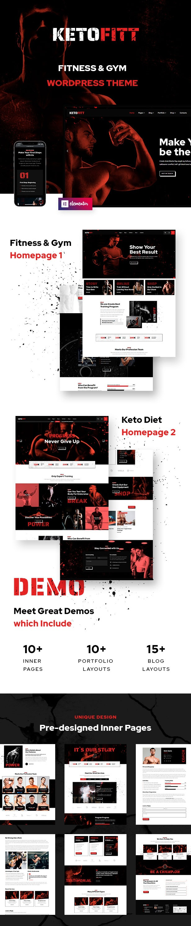 Fitness and GYM WordPress Theme