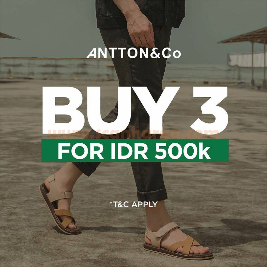 9to9 Promo ANTTON&Co Buy 3 FOR IDR 500K