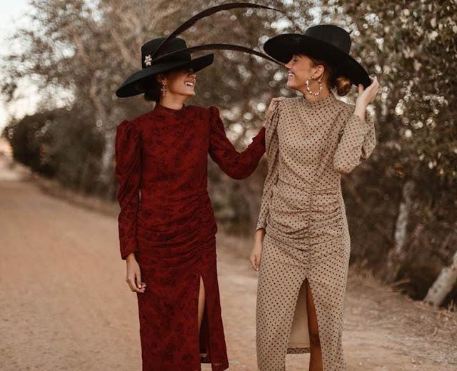 vogana vestido invitada fiesta boda invierno lunares look traje chaqueta