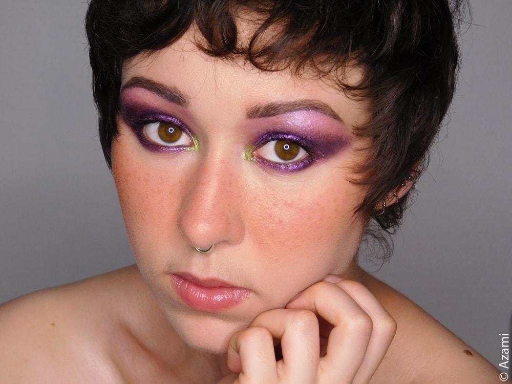 It's Azami Makeup Look   Violet Galaxy - Juvia's Place The Zulu Palette - BH Cosmetics Aurora Lights - The Body Shop Matte Clay Foundation - 3ina The Matte Eyeshadow 107 - London & Paris Makeup Artist & Blogger