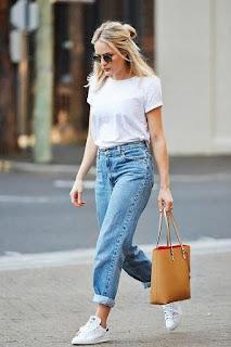 phối đồ đơn giản mà đẹp cho nữ với quần jean