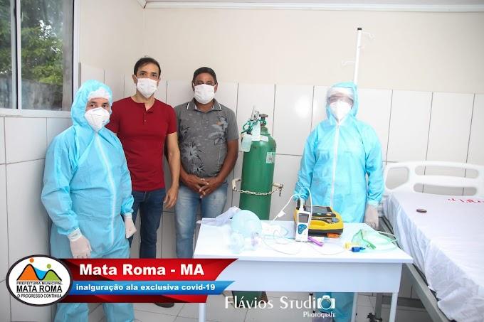 Mata Roma cria ala isolada para tratar pacientes com sintomas da covid-19.