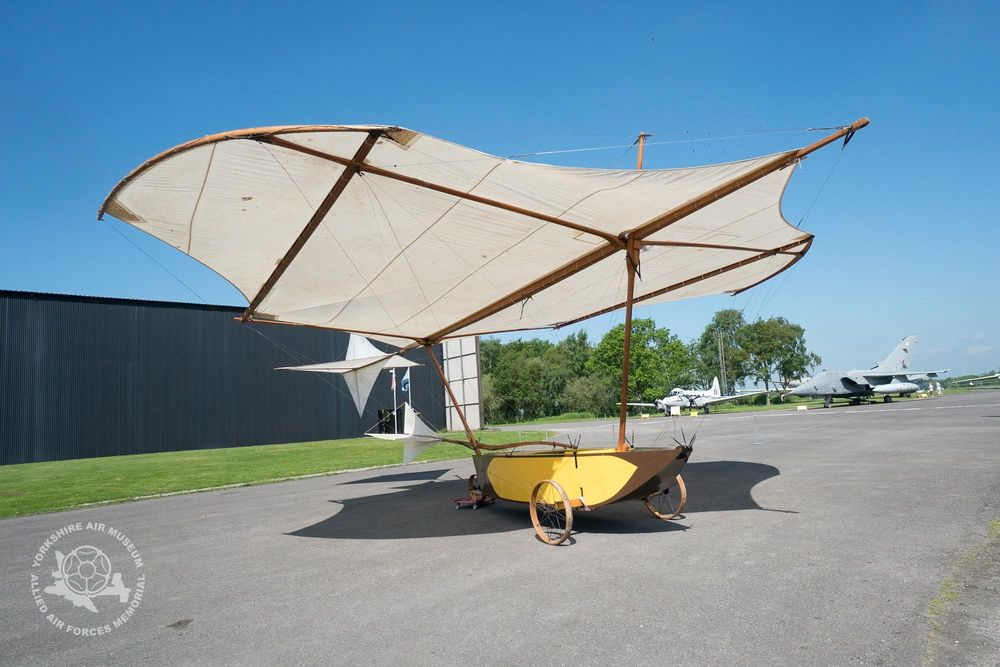 A replica of George Cayley's flying machine