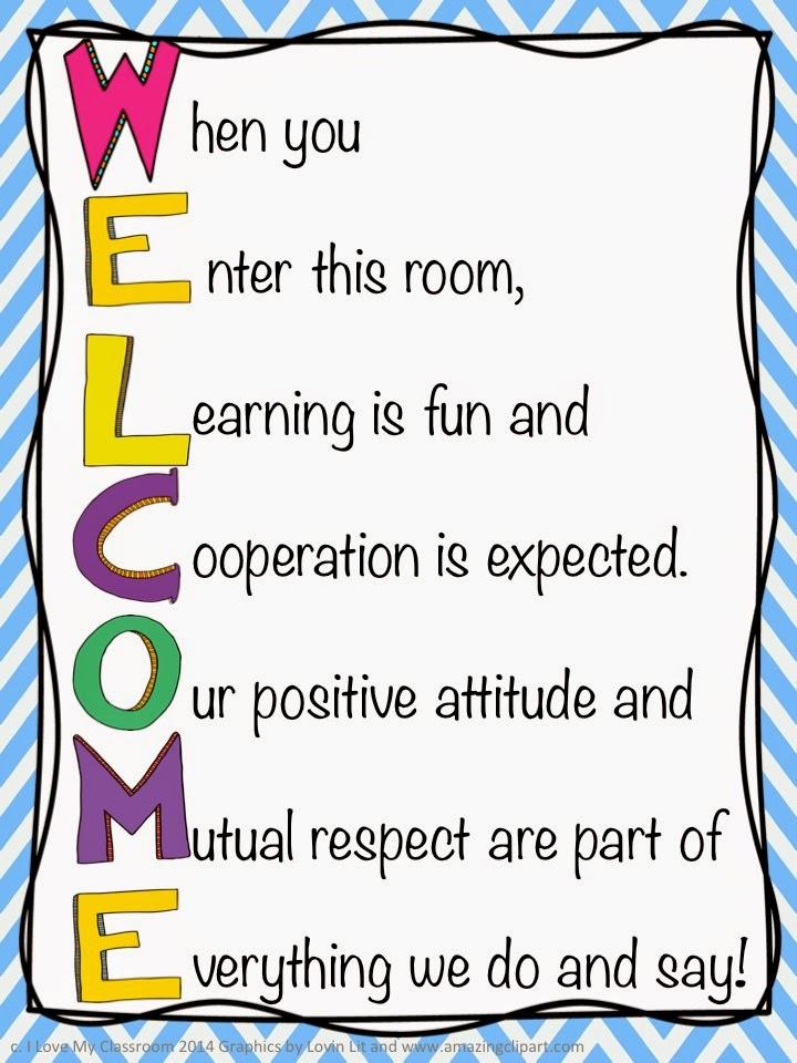 Italian Boy Name: I Love My Classroom: Welcome Door Sign