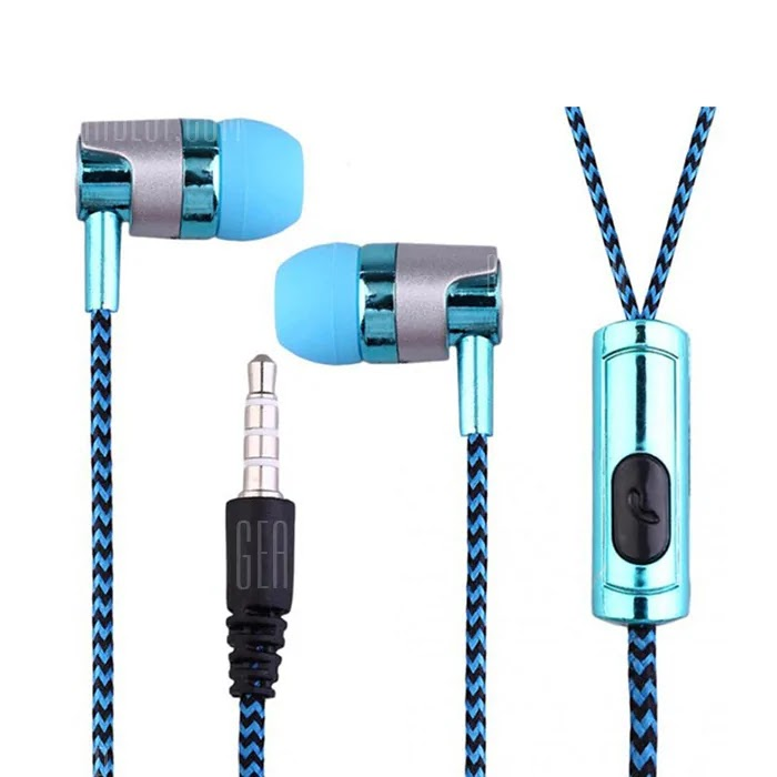 G03 Electroplated Braided Wiring With Wheat Headset Wire Control Call Headset Coupon