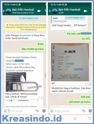 Handrail Kloset Stainless pesanan Bpk Rifk Jakarta Barat