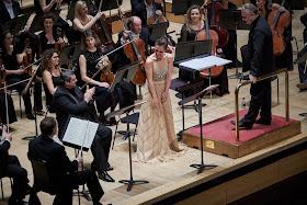 Puccini: Le Willis - Arsen Soghomonyan, Ermonela Jaho, Sir Mark Elder, London Philharmonic Orchestra in November 2018 (Photo Russell Duncan)