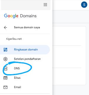 cara mengganti domain blogspot